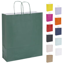 Pack of 10 Twisted Handle Kraft Paper Bags 36x12x41cm - 16 Colour/Print Options - BORDERS HOMEWARES by Mainetti UK