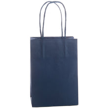 10 Twisted Handle Gift / Party 110gsm Kraft Paper Bags, 14x9x20cm