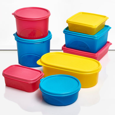 Belocopia - Coloured range of BPA Free Plastic Food containers.