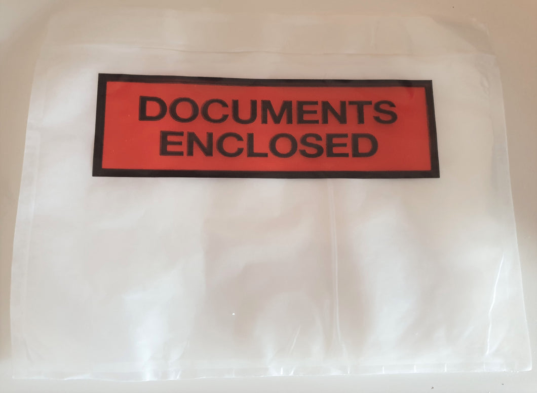 Packs of 1000 Documents Enclosed Wallets - Available in 3 sizes
