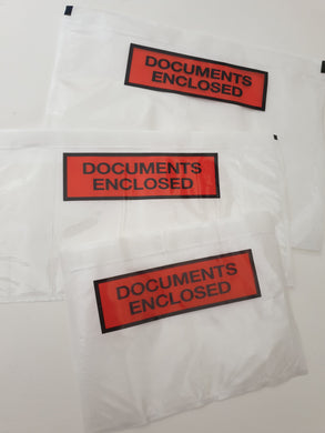 Documents Enclosed Wallets - Available in 3 sizes, Sold in packs of 250 and 1000