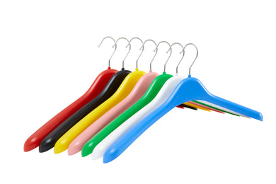 Pack of 5 Plastic Jacket Hangers - 42cm - BORDERS HOMEWARES by Mainetti UK