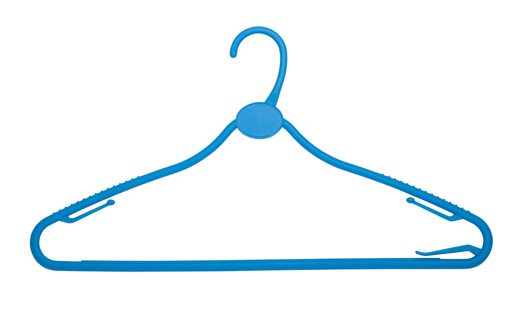 Baby Blue 42cm All Plastic Multipurpose Hanger