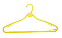 Yellow 42cm All Plastic Multipurpose Hanger