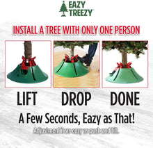 Eazy Treezy - Drop-in Christmas Tree Stand - Fits Living Trees up to 10 FT Tall