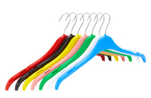 Pack of 10 Plastic Tops Hangers with Notches - 41cm - BORDERS HOMEWARES by Mainetti UK