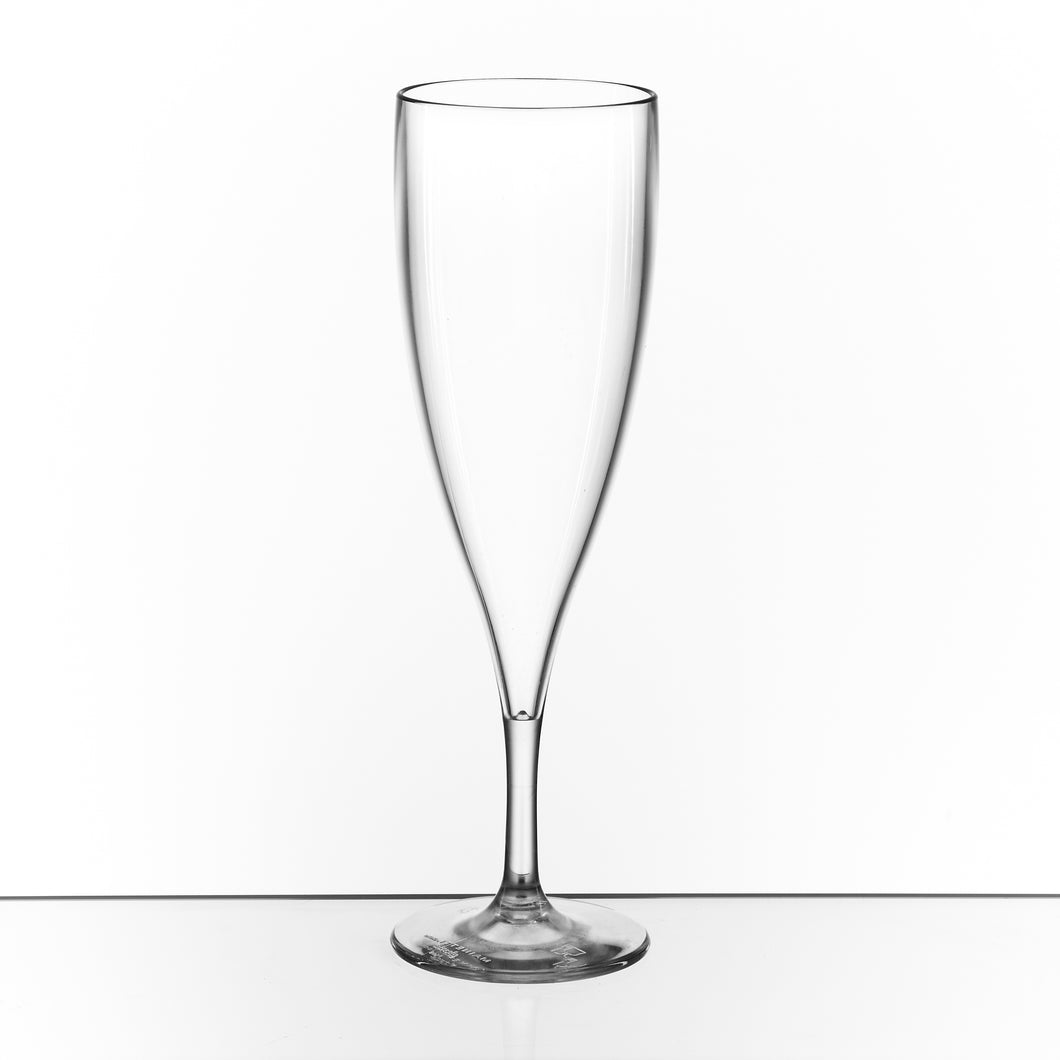 Pack of 4 Champagne Flute Glasses (Polycarbonate Plastic)