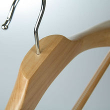 Solid Wood Jacket Hangers with Trouser Bar - BORDERS HOMEWARES by Mainetti UK
