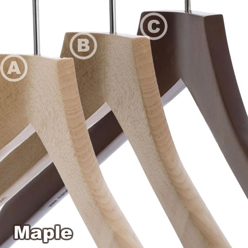 Pack of 5 Solid Wood 42cm Tops Hangers - BORDERS HOMEWARES by Mainetti UK
