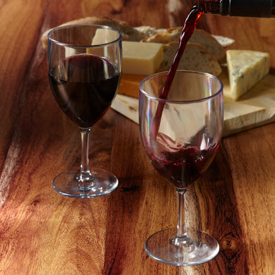 Glastic, Plastic Wine Glasses made from almost indestructible Tritan material