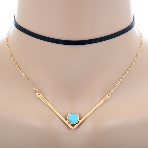 Minimalist Necklace Punk Gold Color