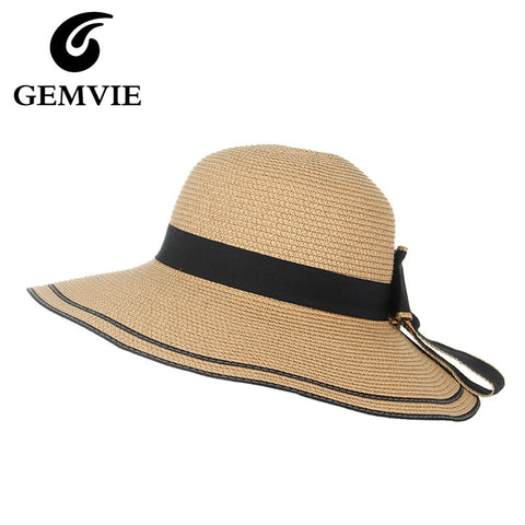 Casual Striped Straw Summer Hats for Women -Free shipping