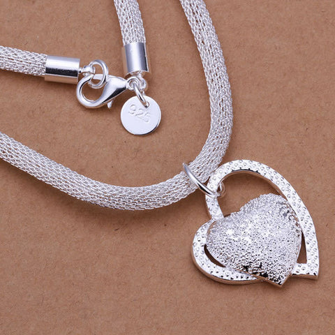 Accessories silver plated fashion jewelry Necklace pendants Chains-Free shipping