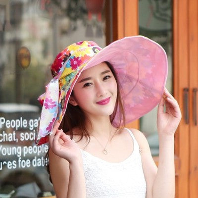 2017 Summer large brim beach sun hats for women-Free shipping