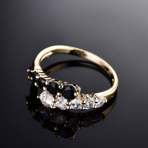 Fashion Engagement Rings for women Gold-color -Free shipping
