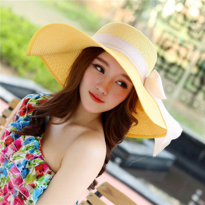 Summer Hats Women's Foldable Wide Large Brim Beach-Free shipping