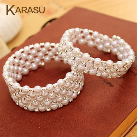 Luxurious Korean Pearl Wrap Bracelets -free shipping