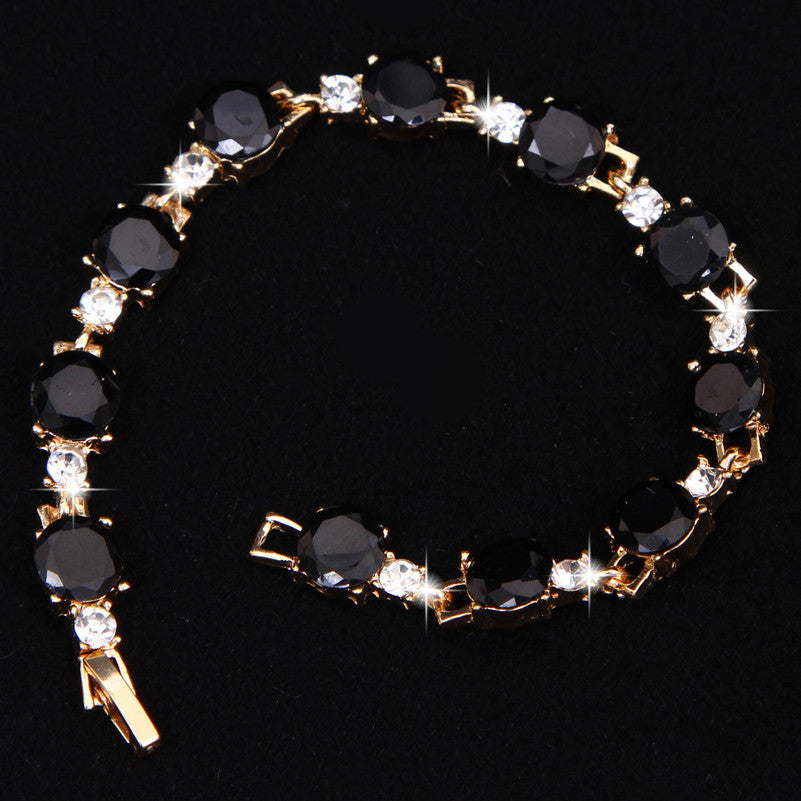 Fashion Black White Bracelets & Bangles Luxury Romantic Wedding For Women-free shipping