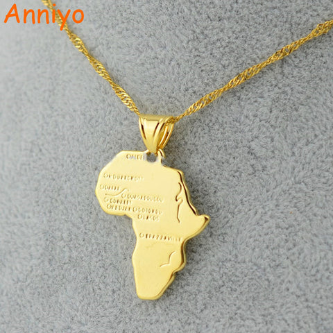 Anniyo 9 Style Africa Map Pendant Necklace for Women/Men -Free shipping