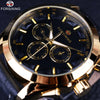 Golden Men Luxury Brand Automatic Mechanical Watches-Free shipping