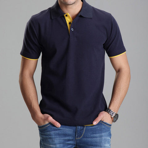 Brand Clothing Polo Homme Solid Wholesale Polo Shirt -Free shipping