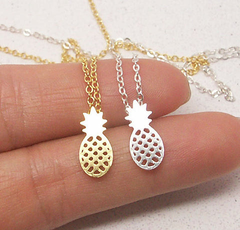 Fruit Pineapple Pendant Necklaces for Women Party Gift-Free shipping