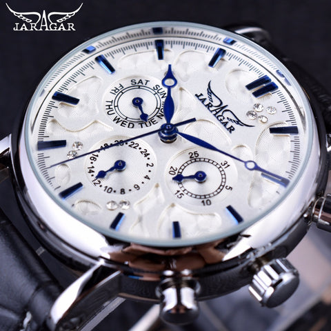 Jaragar Blue Sky Series Elegant Design Top Brand Luxury Clock Men Automatic-Free shipping