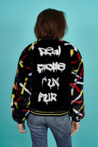 Real People F*ux Fur Bomber Jacket