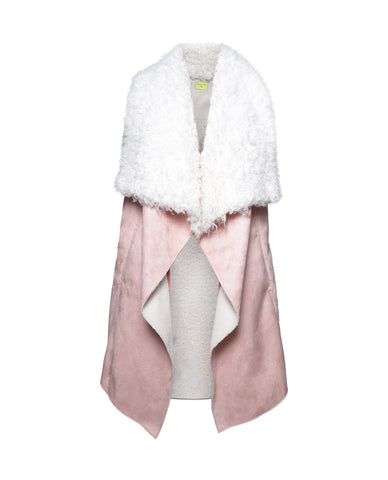 Dawn Maxi Fly Away Faux Shearling Vest