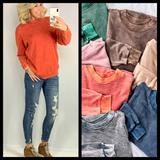 FAVORITE OF ALL MINERAL WASH SWEATSHIRT