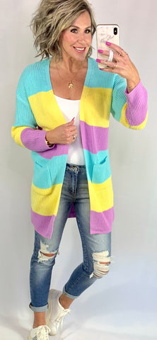 POPPY COLORBLOCK CARDIGAN