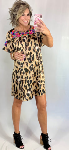 MAJOR BABE IN LEOPARD DRESS/ AVAILABLE IN SMALL-3XLARGE