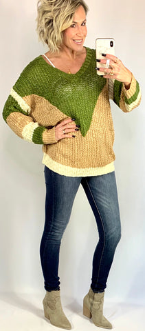 THE GRACE COLORBLOCK SWEATER