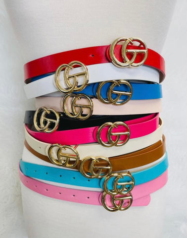GLAMOUR GIRL STATEMENT BELT/AVAILABLE IN 9 COLORS