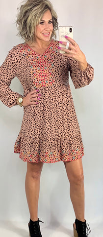LEMON DROPS WITH LOVE LEOPARD DRESS/ AVAILABLE IN SIZES SMALL-3XLARGE