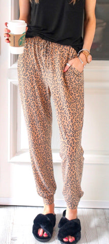 THE JAY LEOPARD JOGGERS