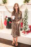 THE FALLEN FLEECE LEOPARD ROBE