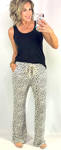 NAP TIME LEOPARD LOUNGE PANTS