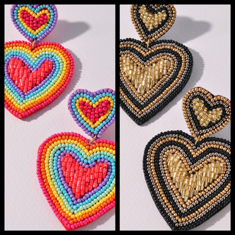 HEART EYES FOR YOU EARRINGS/ AVAILABLE IN 2 COLORS