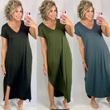 LET'S SAIL AWAY MAXI DRESS/AVAILABLE IN 3 COLORS
