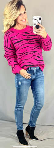 THE ZOE PINK TIGER SWEATER