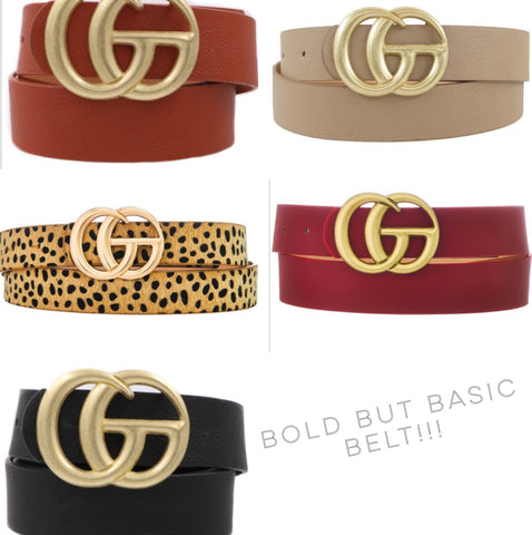 BOLD BUT BASIC BELT