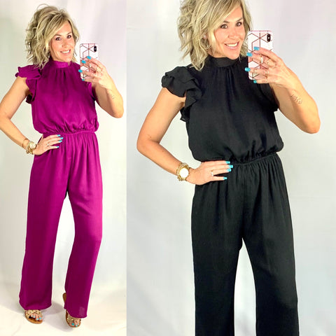 PALM TREE PRINCESS JUMPSUIT/ AVAILABLE IN 2 COLORS