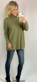 CABIN LIFE MOCK NECK SWEATER/ AVAILABLE IN 4 COLORS
