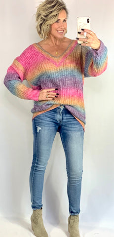 THE CHLOE COLORFUL SWEATER
