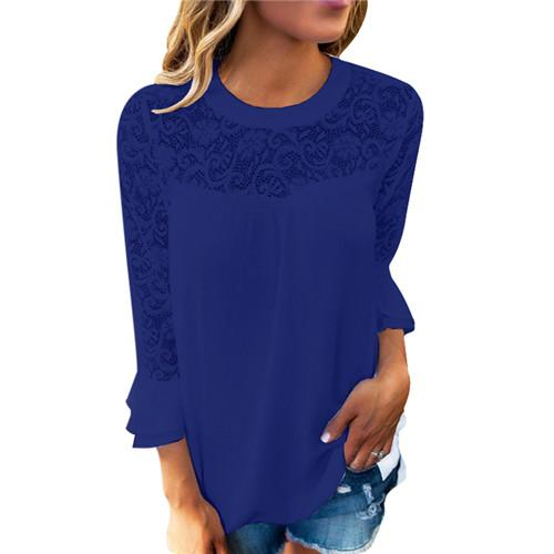 Ruffle Sleeved Blouse - HighLiteFashion