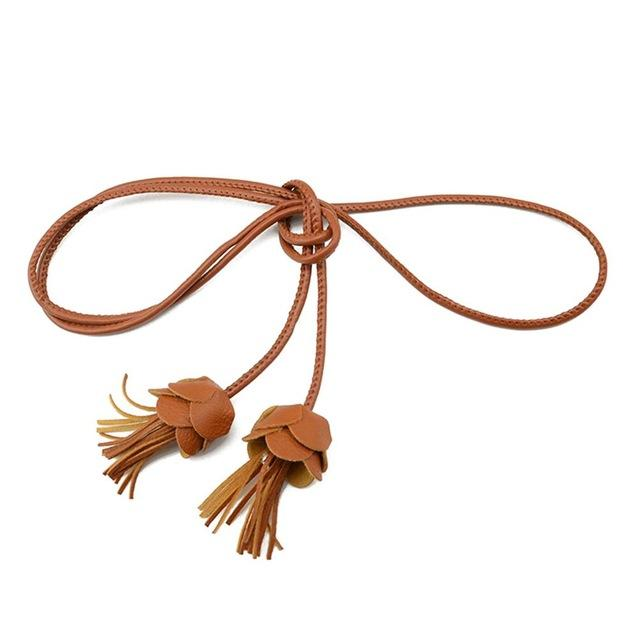 Tassel Thin Braided Belt