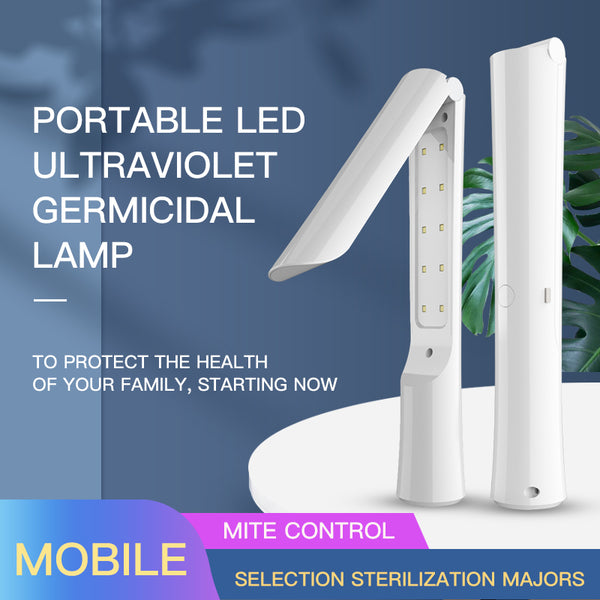 Portable UVC Germicidal Lamp Foldable Disinfection UV Sterilizer Light Handheld Wand Wireless Chargeable Tube LED