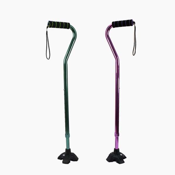 4-point Telescopic Cane(Green/Purple)