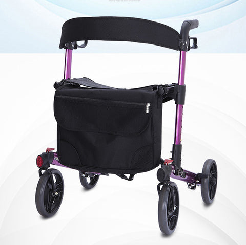 Thick Backrest Aluminium Rollator(Purple)